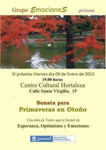 Cartel Teatro. Primaveras en Otoño (2) Santa Virgilia jpeg